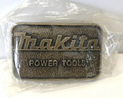 NEW Vintage Makita Belt Buckle In Package NIP NOS 70s 80s Power Tools