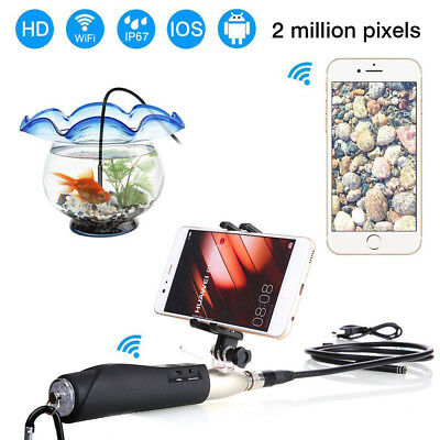 WIFI Handheld Industrial Endoscope Rigid Borescope Inspection Camera Waterproof