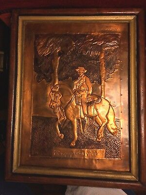 "Antique Copper Embossed Image - Plantation Lord ""king Of The Fields"" Framed"