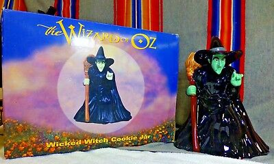RARE 1998 Wizard Of Oz Wicked Witch Cookie Jar Canister Warner Bros Studio NIB