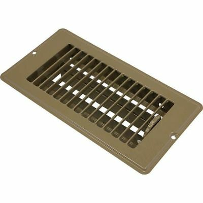 MOBILE HOME FLOOR REGISTER VENT w/ DAMPER - WHITE OR BROWN, 4x8 OR 4x10