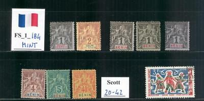 FS_1_184 - FRENCH COLONIES. BENIN. Lot of 1893-1894 stamps. Mint