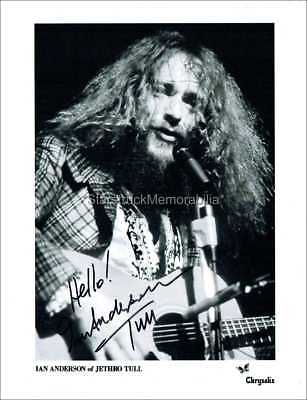 Ian Anderson Autograph *Jethro Tull (A)* Hand Signed 10X8 Photo
