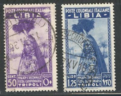 "C_A_2590 LIBIA. 1936 ""10th FIERA CAMPIONARIA TRIPOLI"" set. Sas 138-139. Used."