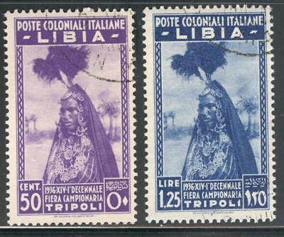 "C_A_2593. LIBIA. 1936 ""10th FIERA CAMPIONARIA TRIPOLI"" set. Sas 138-139. Used."