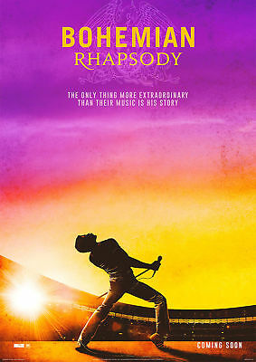 Bohemian Rhapsody Poster Movie 2018 Queen Mercury A5..A4..A3..A2.. OPTIONS