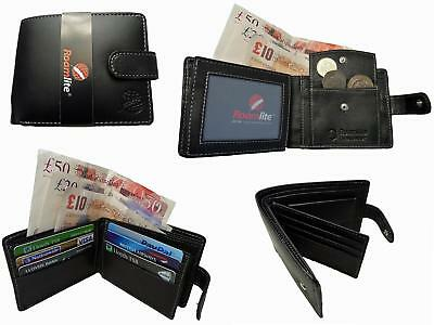 RFID Blocking Mens Wallet Soft Real Leather Contactless Safe Credit Cards & ID