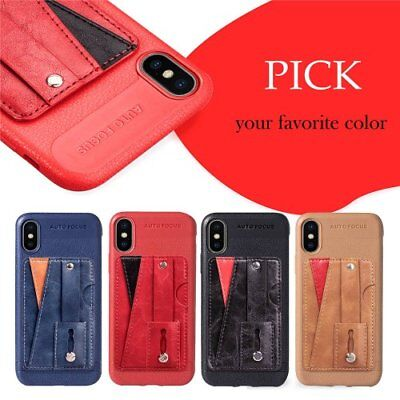 For iPhone X/XS/XR/XS Max shockprood kickstand Card holder phone case thin TPU