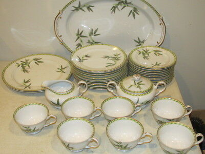 Vintage Aladdin Bamboo Set of 36 Pieces of China VFC made in Occupied Japan