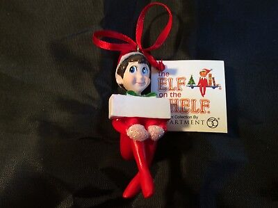 THE ELF ON THE SHELF~Dept. 56~Blank~Personalize Yourself~Christmas 0rnament~New!