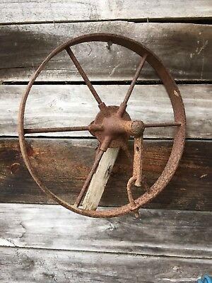 steel wagon wheels Vintage. 16""