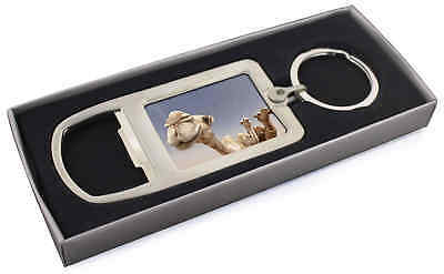 Camels Intrigued by Camera Chrome Metal Bottle Opener Keyring in Box G, CAM-1MBO