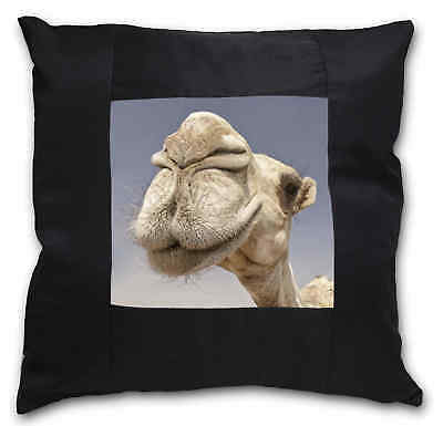 Camels Intrigued by Camera Black Border Satin Feel Cushion Cover With, CAM-1-CSB