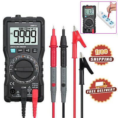 Digital Multimeter 9999 Counts TRMS Auto Range DC AC Voltage Capacitance Meter