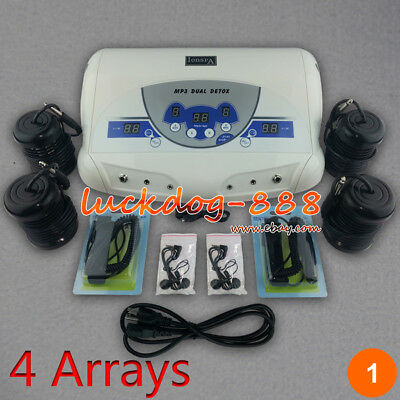 Dual User Detox Ionic Foot Bath Ion Spa Cell Toxins Cleanse MP3 Player Arrays