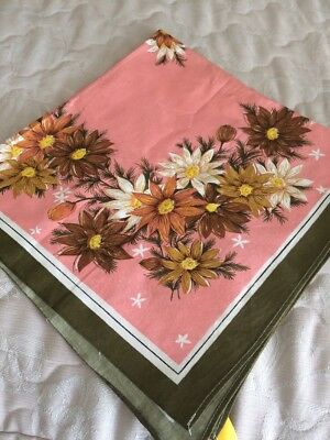 Vintage Retro Table Cloth 90 X 90 Cm