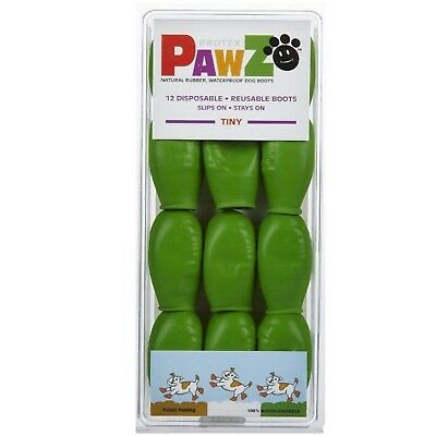 PawZ Protex Dog Boots Water-Proof Paws Disposable Reusable Tiny Apple Green