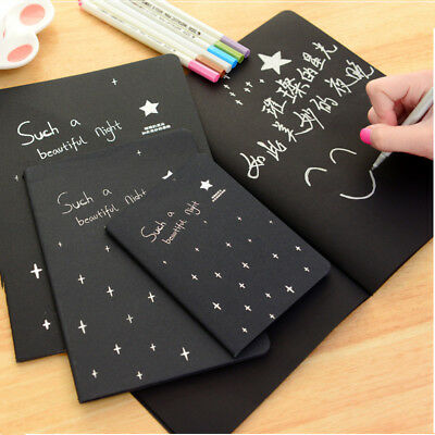 Soft Cover Black Notebook Diary Paper Notepad Sketch Graffiti for DIY Drawing