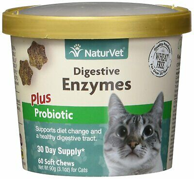 NaturVet Digestive Enzymes Plus Probiotics Soft Chew Dog and Cat 60 count