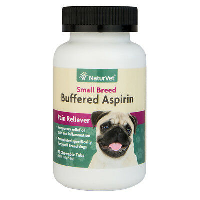 NaturVet Buffered Aspirin for Small Breed Dogs 75 Count Tabs