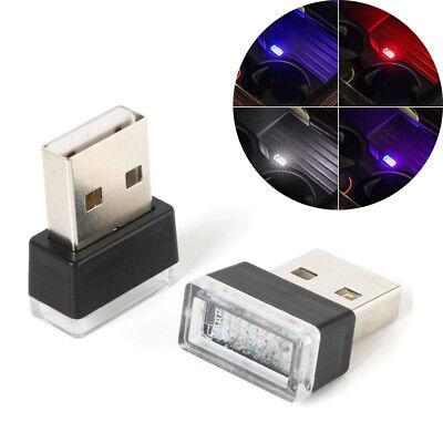 Colorful 5V Flexible Mini USB LED Light Lamp For Car Atmosphere Lamp Bright