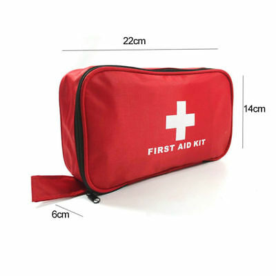 180 Piece First 1St Aid Kit Medical Emergency Travel Home Car Taxi Work Red Bag