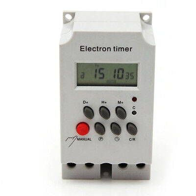 New KG316T-II Din Rail Digtal Programmable Timer Time Switch 220VAC 25A Time Top