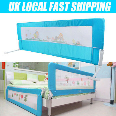 150 Baby Bed Safety Rail Guard Kid Toddler Child Bedroom Protection Folding Gate