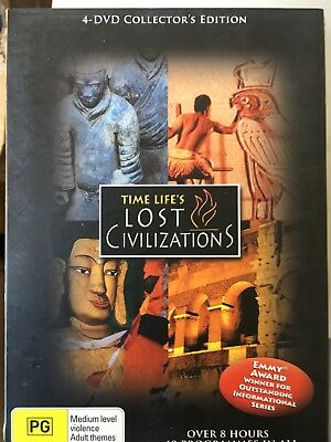 LOST CIVILIZATIONS - 10 Part Series 4 x DVD Set Time Life Documentary Exc Cond!