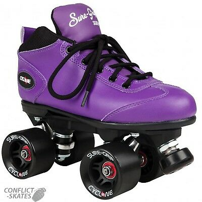 """SURE-GRIP """"Cyclone"""" Quad Roller Skates Size 7 UK only PURPLE SALE Roller Derby"""