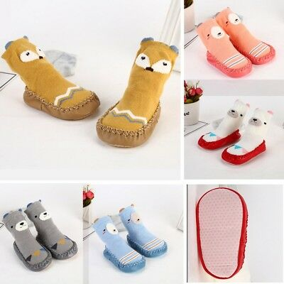 Cartoon Animals Baby Toddler Kids Anti-slip Crawling Socks Shoes Slipper Boots