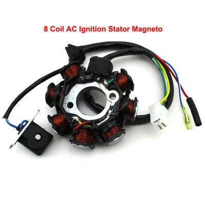 8 Coil AC Ignition Stator Magneto For GY6 50cc Engine ATV Go Kart Scooter Moped
