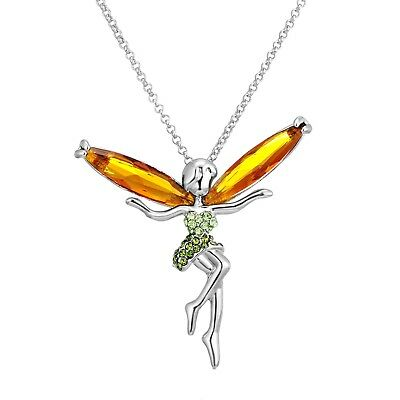 18ct Gold Filled Crystal Necklace With Swarovski Elements TINKERBELL N49
