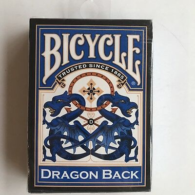bold vibrant lot 3 Deck set BLUE RED GOLD DRAGON BACK Bicycle 309 Playing cards