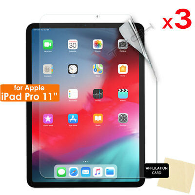 """3x CLEAR Screen Protectors Guards Covers for New Apple iPad Pro 11"""" ( 2018 )"""