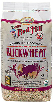 Raw Bob's Red Mill Grains-Of-Discovery Organic Buckwheat Groats --4- 16 oz CASE