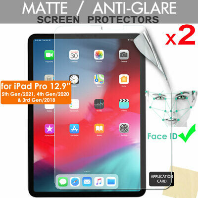 "2x ANTIGLARE MATTE Screen Protectors for New Apple iPad Pro 12.9"" 2018"