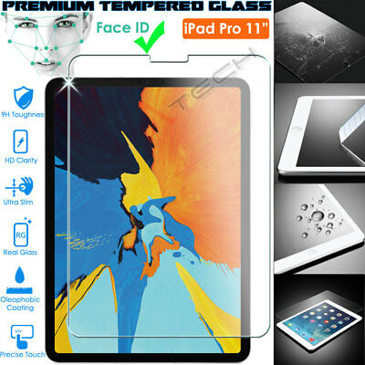 """100% Genuine TEMPERED GLASS Screen Protector for New Apple iPad Pro 11"""" (2018)"""