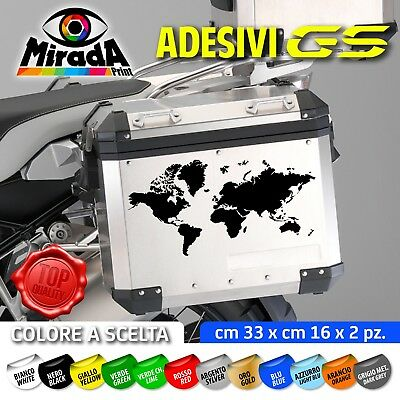 Adesivi Sticker Bmw Gs R1250 1200 1150 Motorrad Adventure World Valigie Bags
