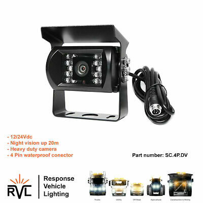 4 Pin Reversing Camera for kit/upgrade, Waterproof 12/24V Car Parking Truck Van
