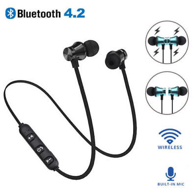 Bluetooth 4.2 Stereo Earphone Wireless Magnetic In-Ear Ourdoor Sport Headphone