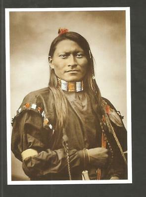 Postcard Native American America Red  Armed Panther Cheyenne Scout