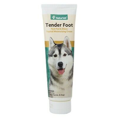 NaturVet TENDER FOOT Pad Elbow Cream with Vitamin A E for Dogs 5 oz