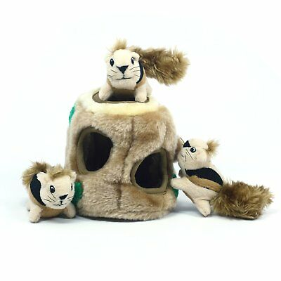 Outward Hound Plush Puppies HIDE A SQUIRREL Dog Puzzle Toy Small