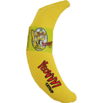 YEOWWW! Catnip Banana   Pure Organic Leaf and Flowertop   Cat and Kitten Toy