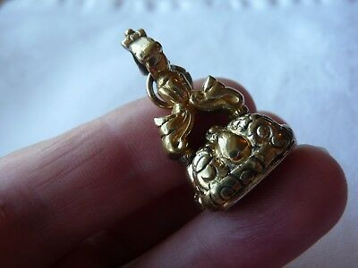 Antique Victorian Gold Plated Watch Fob Seal Itaglio Engraved Margaret