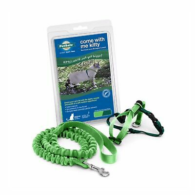 PetSafe COME WITH ME KITTY Cat Harness and Bungee Leash Green Medium