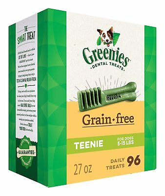 Greenies Grain Free Teenie Size 96 count 27 oz | Dental Chew Treats for Dogs