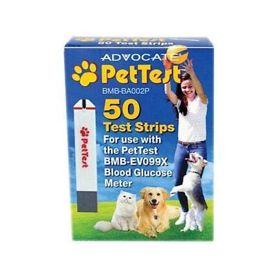 Advocate PetTest Test Strips for Blood Glucose Meter for Dogs and Cats