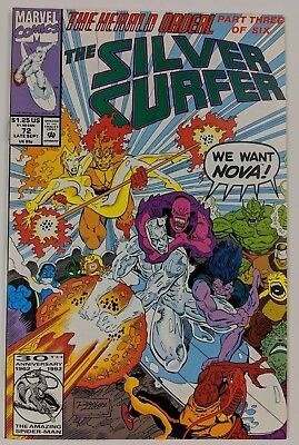 Silver Surfer #72 Marvel Comic 1987 2nd Series 1992 The Herald Ordeal Ron Marz